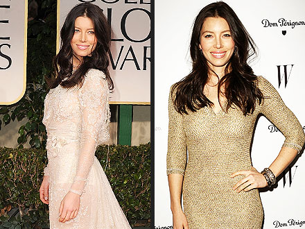 Golden Globes Red Carpet: Jessica Biel Not Wearing Engagement Ring