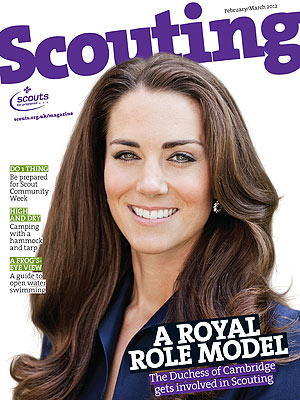 Kate Lands Scouts Magazine Cover