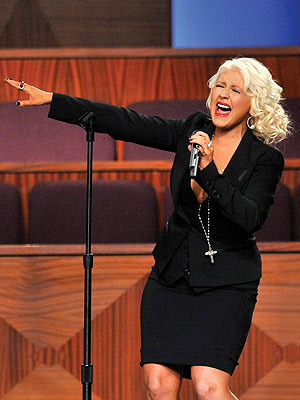 Etta James Funeral: Christina Aguilera's Tribute