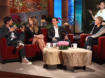 Jennifer Lopez & Marc Anthony (Mostly) Get Along on Q&#39;Viva! The Chosen