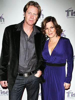 Marcia Gay Harden with cool, friendly, fun, Single