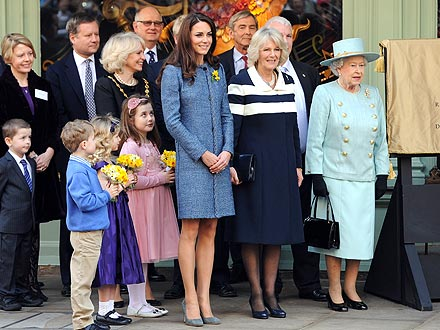 Kate's Tea Party with the Queen and Camilla: Chocolates & Dog Biscuits