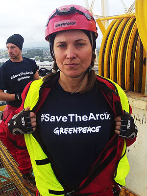 Lucy Lawless Arrested After 77 Hours Aboard Oil-Drilling Ship