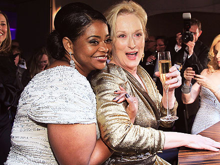 Oscar Winners 2012: Meryl Streep, Octavia Spencer Oscars Afterparty