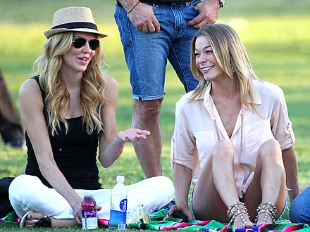 LeAnn Rimes & Brandi Glanville Smile Together at Soccer Game