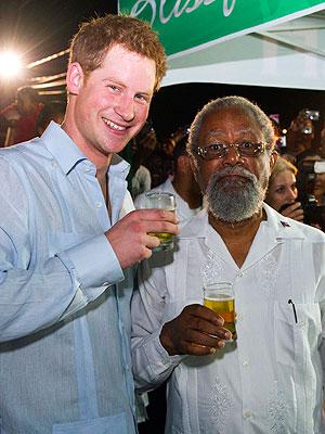 Prince Harry Belize Visit: He Tastes Rum