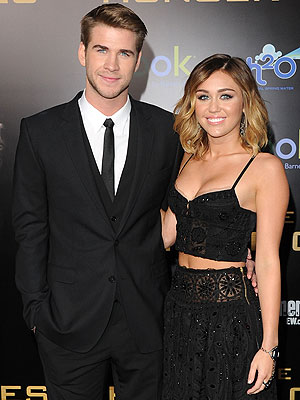 Hunger Games Premiere - Liam Hemsworth Talks about Miley Cyrus