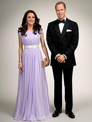 William and Kate at Madame Tussauds