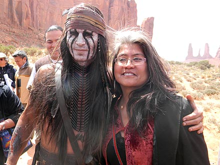 Johnny Depp Receives Gifts from 'Star Struck' Navajo Visitors