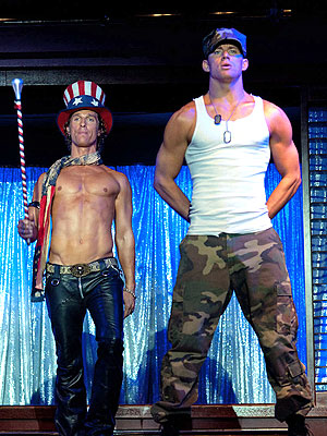 Channing Tatum, Matthew McConaughey Hit Male Strip Club