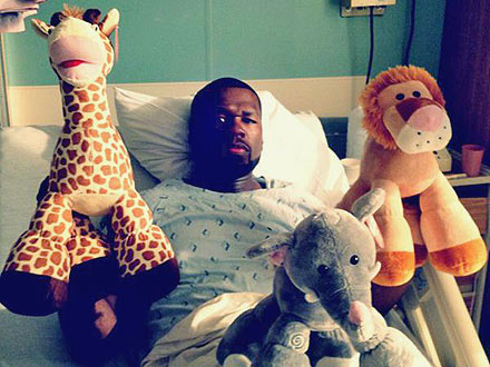 50 Cent Hospitalized: Stomach Flu or Publicity Stunt?