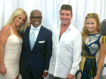 Simon Cowell Is 'Fascinated' By 'Shy' Britney Spears | Britney Spears, Antonio L.A. Reid, Demi Lovato, Simon Cowell