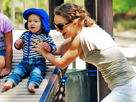 Natalie Portman Baby Aleph Go on Playdate in Park: Pictures