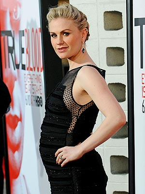 Anna Paquin Pregnant at True Blood Premiere with Stephen Moyer