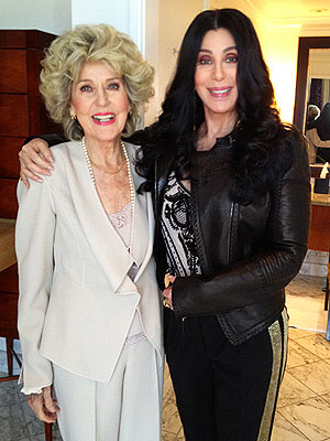 Cher Poses with Her Mother Before Meeting President Obama