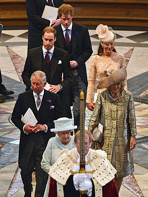 Queen Elizabeth Saluted at Special Service of Thanks