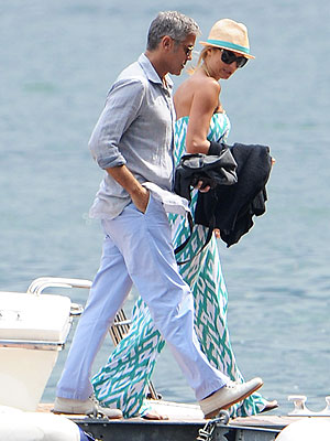 George Clooney Dating Stacy Keibler; Get Food Poisoning in Italy