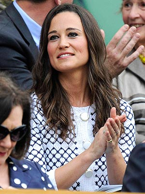 Wimbledon: Pippa Middleton Watches Serena Williams Beat Hungary&#39;s Melinda Czink