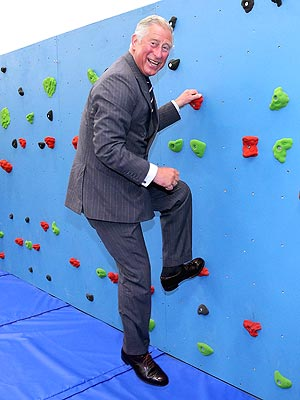 Prince Charles Tries Traversing Wall
