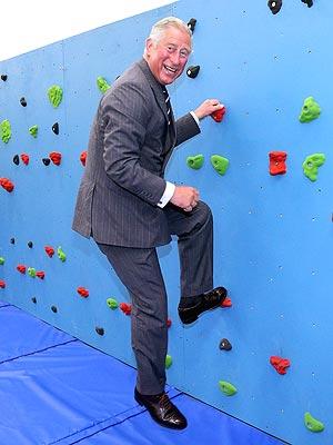 Prince Charles Tries Traversing Wall