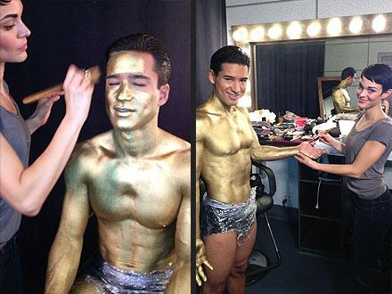 Mario Lopez, Courtney Mazza in Underwear for New Ads