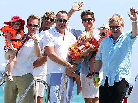 Elton John, Neil Patrick Harris Bring Families Together for Saint-Tropez Vacation