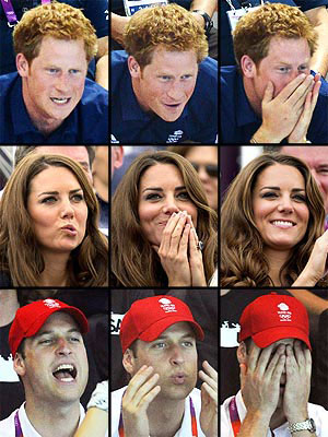 London 2012 Olympics: Prince William, Prince Harry, Kate React to Competition
