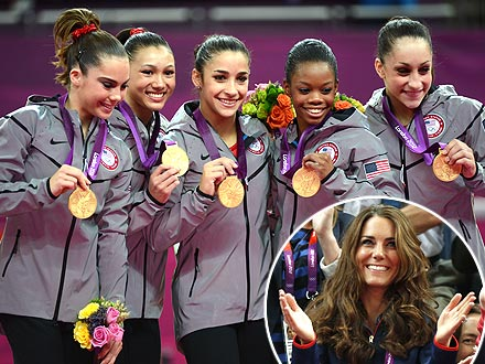London 2012 Olympics: Kate Meets Team USA Gymnasts