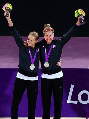 Jen Kessy, April Ross, London 2012 Summer Olympics