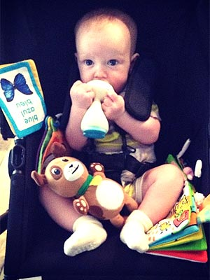 Hilary Duff Shares Luca's Teething on Twitter