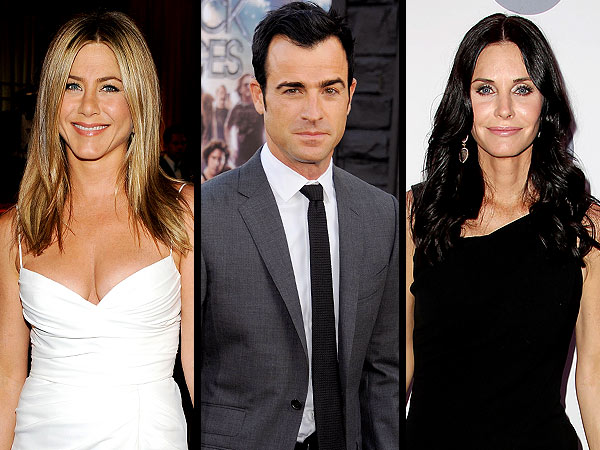 Jennifer Aniston & Justin Theroux Share Cozy Dinner with Courteney Cox