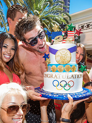 Michael Phelps Celebrates His Retirement with Las Vegas Pool Party