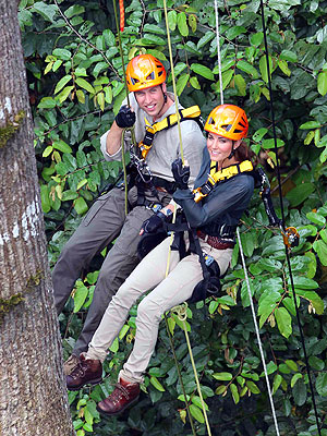 Prince William and Kate 'Upbeat' on Rainforest Trek