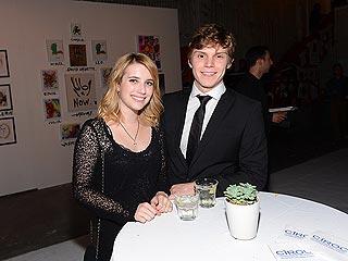 Emma Roberts & Evan Peters Get Artsy in L.A. | Emma Roberts