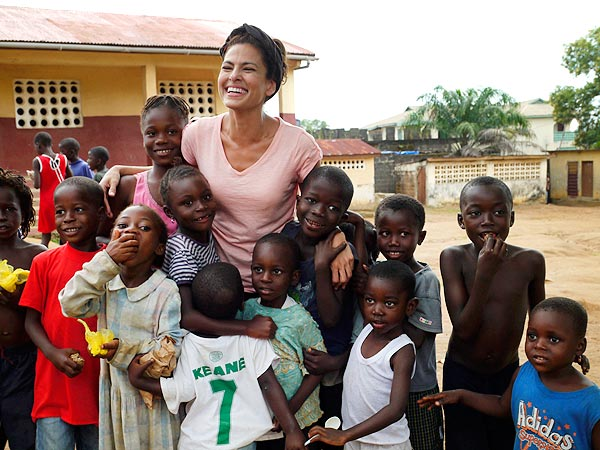 Eva Mendes in Half the Sky for Sierra Leone Charity