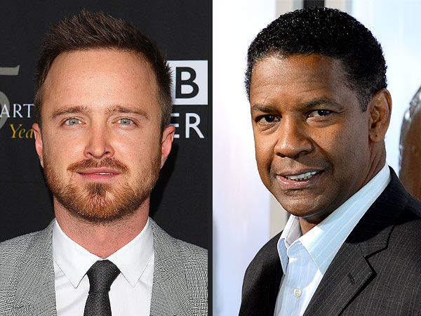 Denzel Washington & Aaron Paul Watch YouTube Videos of Drunks