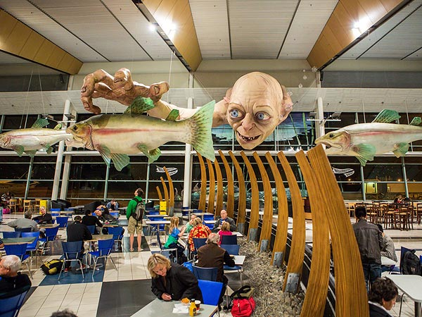 Gollum Comes to Wellington Airport in New Zealand