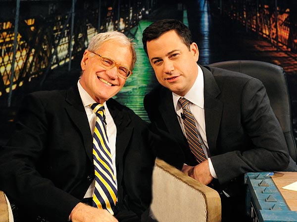 David Letterman Visits Jimmy Kimmel Show