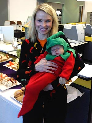 Halloween: Marissa Mayer, Yahoo CEO, Brings Son to Holiday Party