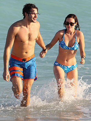 Rumer Willis Bikini, Jayson Blair Bathing Trunks in Miami Beach