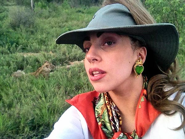 Lady Gaga Goes on Safari in South Africa