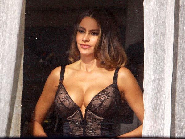 Sofia Vergara in Lingerie; Pictures from Fading Gigolo Set