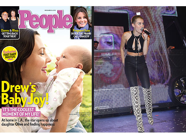 Drew Barrymore&#39;s Baby & Miley Cyrus&#39;s Outfit Get Readers&#39; Top Reactions