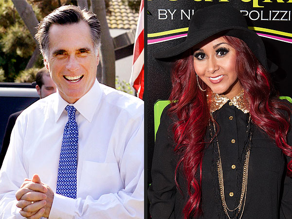 Nicole 'Snooki' Polizzi & Mitt Romney at Pacquiao Fight