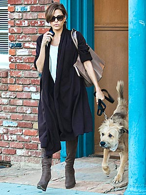 Eva Mendes Walks Ryan Gosling's Dog George: Photo