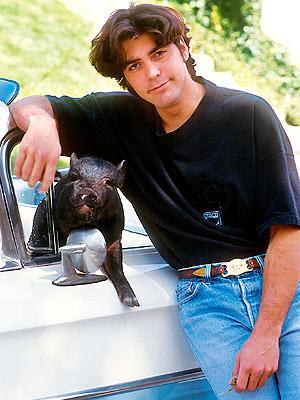 George Clooney: My Pig Made Me Laugh