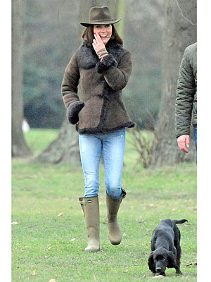 Duchess Catherine, Kate Middleton, Walks New Dog Lupo