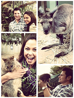 Nick Lachey and Vanessa Minnillo Visit Taronga Zoo