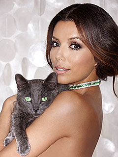 Eva Longoria Cozies Up to a Cat for New Ad Campaign | Eva Longoria