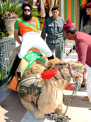 Cannes Film Festival: Sacha Baron Cohen Arrives on a Camel for The Dictator